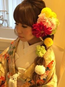 ピンポンマム髪型3