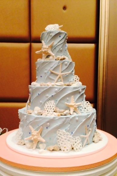 貝殻ウェディングケーキ