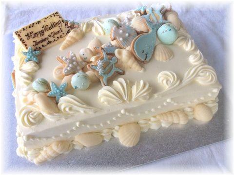 貝殻ウェディングケーキ3