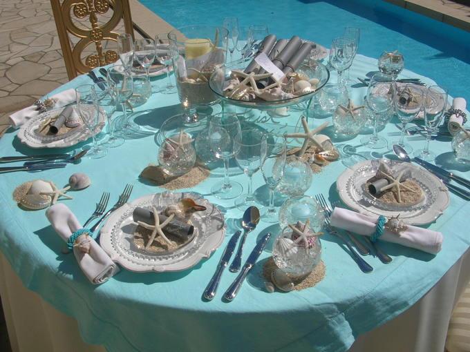 貝殻テーブル