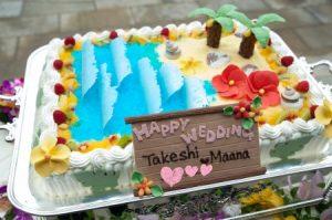 南国ウェディングケーキ2