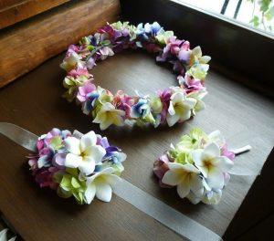 花冠とリストとブートニア