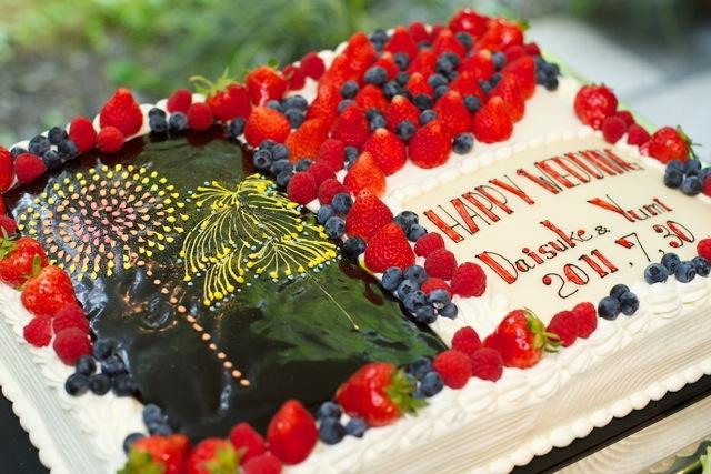 夏祭りウェディングケーキ