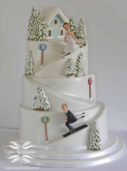 スキーウェディングケーキ