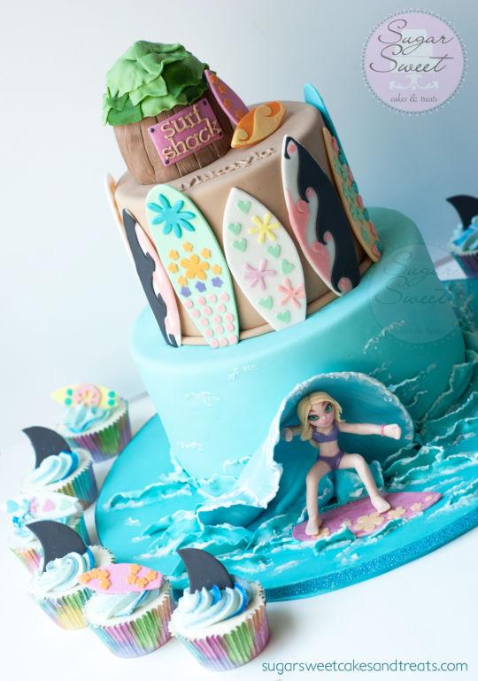 サーフィンウェディングケーキ2