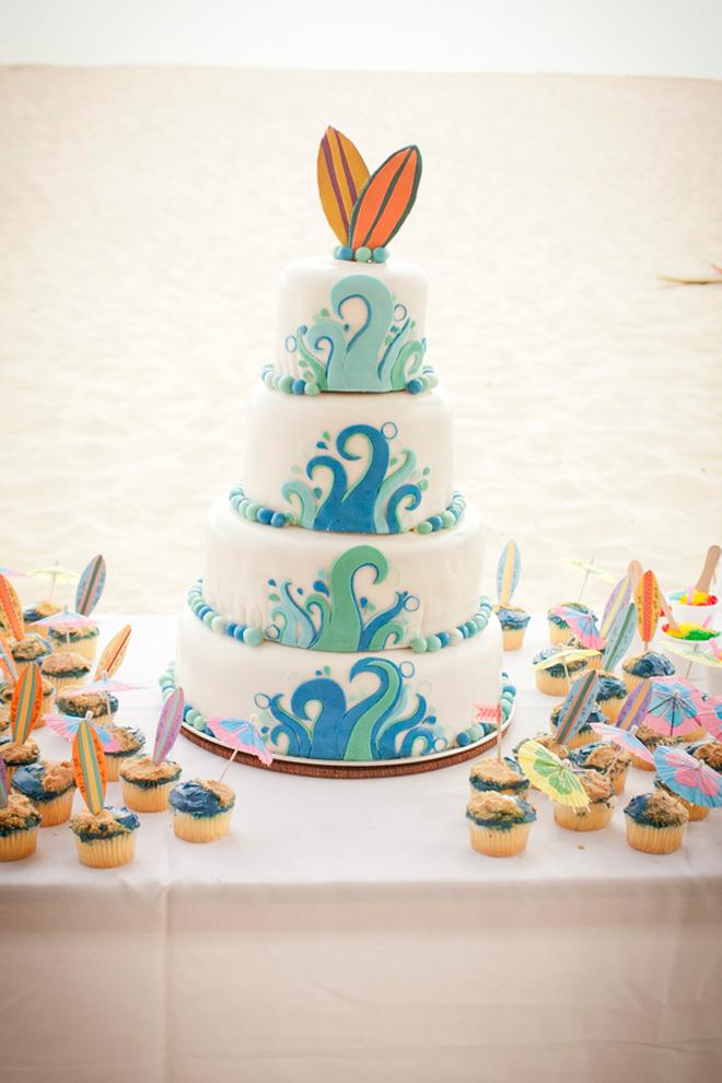 サーフィンウェディングケーキ