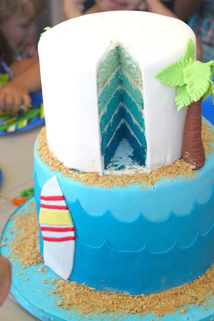 サーフィンウェディングケーキ4