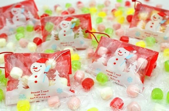 雪だるまのオーナメントキャンディ