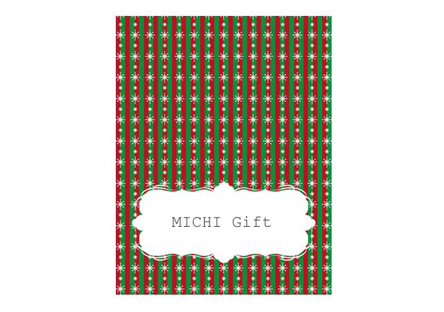 クリスマスデザインの席札テンプレート