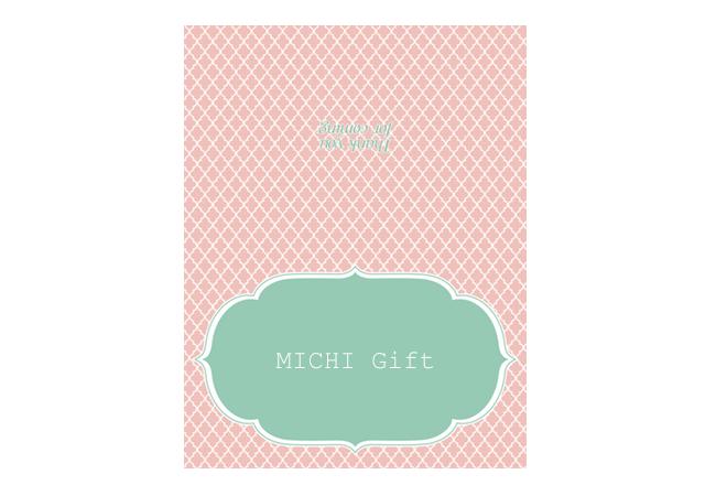 薄ピンク色の個性的な席札テンプレート