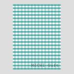 ブルーのチェックのデザインのラッピングペーパー・包装紙