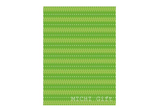 黄緑色の幾何学模様のラッピングペーパー・包装紙