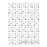 もみじのモノクロデザインのラッピングペーパー・包装紙