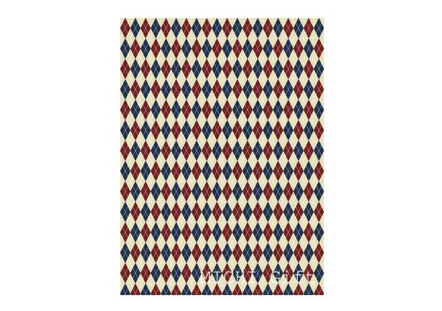 アーガイルチェック柄のデザインのラッピングペーパー・包装紙
