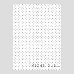 グレーのドット(水玉)のラッピングペーパー・包装紙