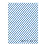 ブルーの斜めストライプのラッピングペーパー・包装紙