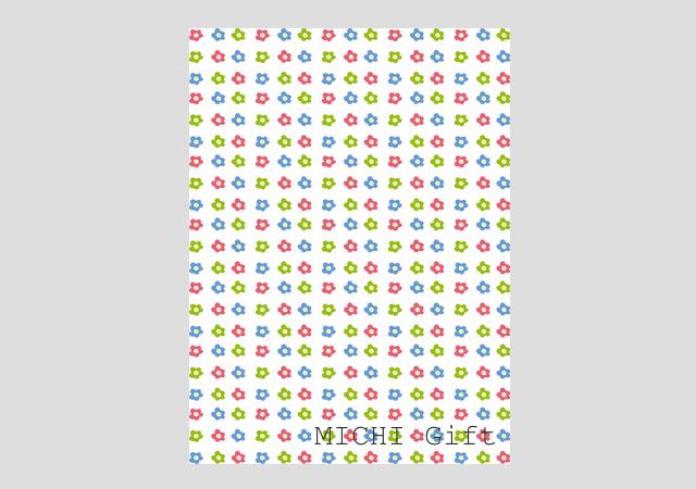 カラフルな花柄のラッピングペーパー・包装紙