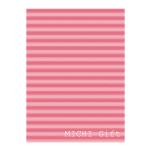 ピンクのボーダー風デザインのラッピングペーパー・包装紙