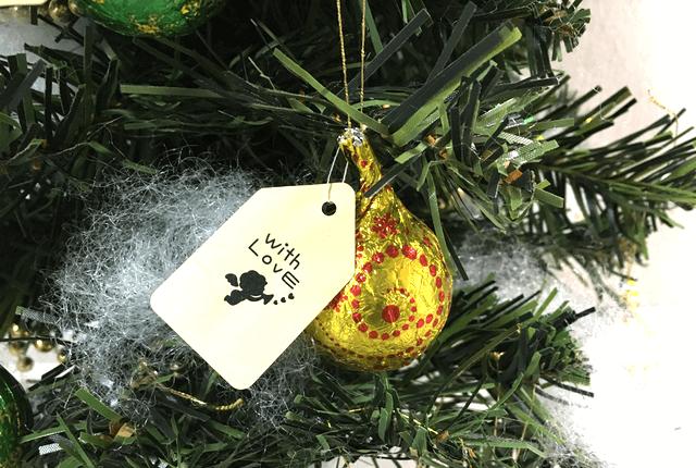 クリスマスツリーオーナメントのプチギフトの作り方3