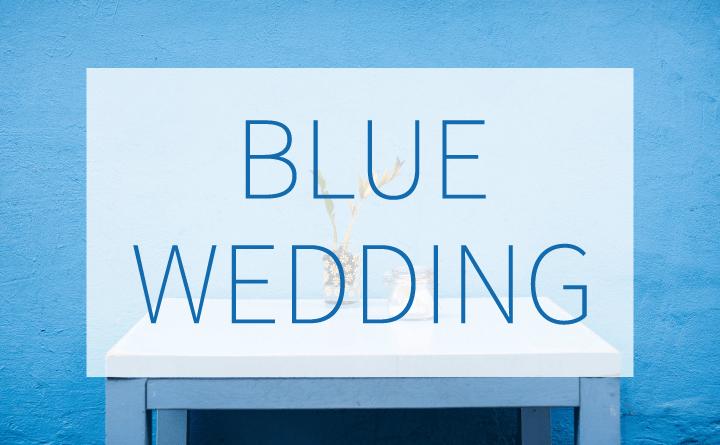 青がテーマカラーの結婚式