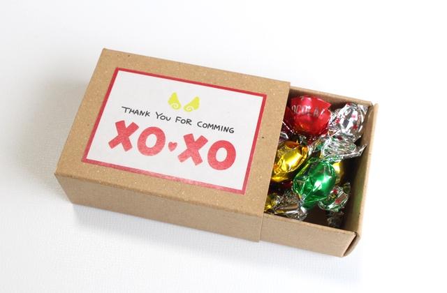 マッチ箱のプチギフト-チョコ