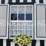 ボーダーがテーマの結婚式