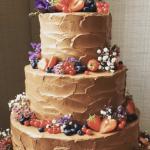 チョコレートのウェディングケーキ
