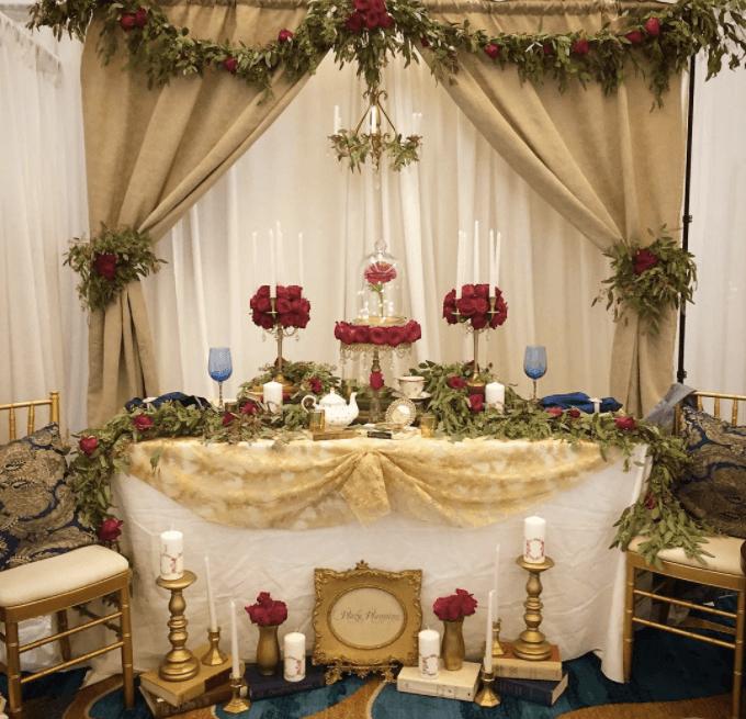 ディズニー美女と野獣のテーブルコーディネート